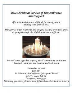 Blue Christmas 2016 Flyer